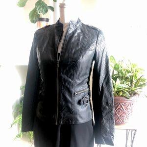 Jessica Simpson Faux League her Black Jacket